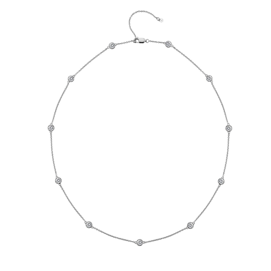 Silver Hot Diamonds Necklace