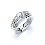 18ct White Gold Diamond 1.20ct Bridal Set
