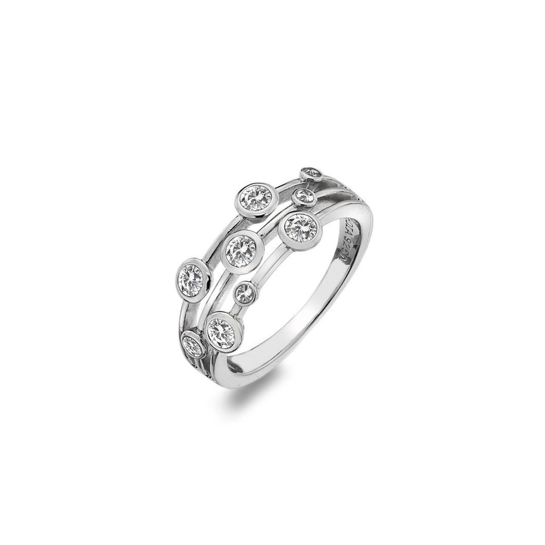 Silver Hot Diamonds Ring