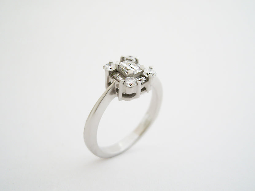 Diamond Baguette Cluster Ring