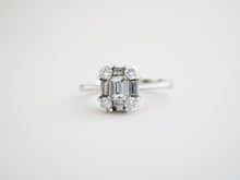 Load image into Gallery viewer, Diamond Baguette Cluster Ring