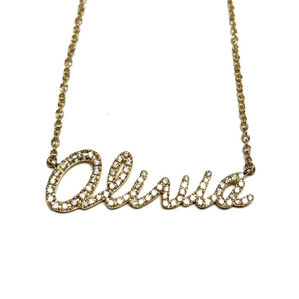 Personalised Diamond Name Necklaces