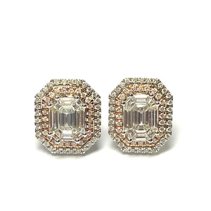 18ct white and rose gold Diamond Earrings