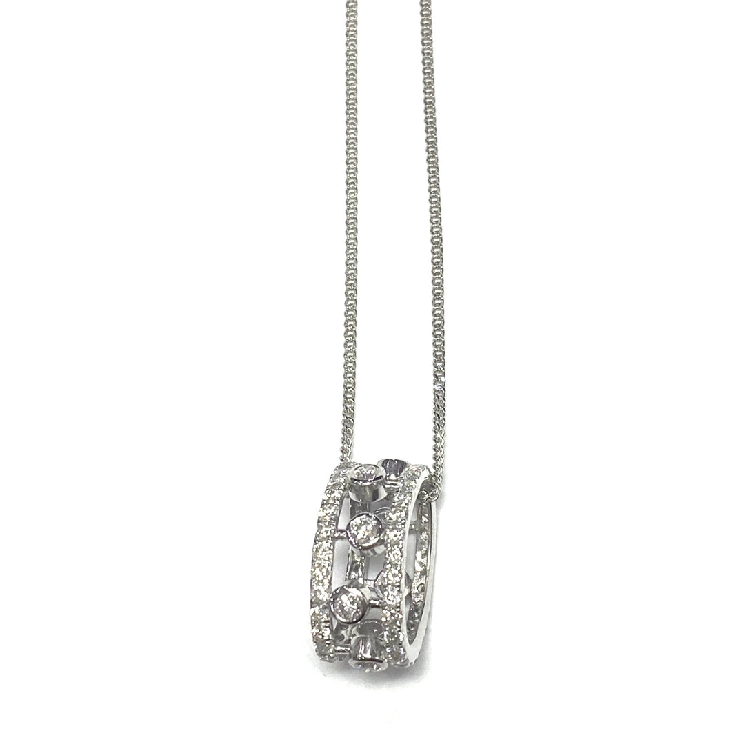 Cartier Style 18ct white gold Diamond pendant