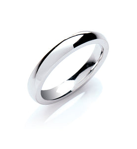 Court Shape Wedding Ring
