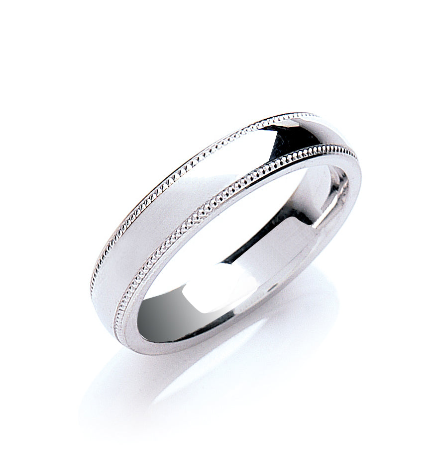 Court Mill Grain Edge Wedding Ring