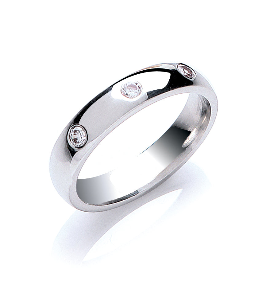 Brilliant Cut Diamond Set Wedding Ring