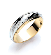 White and Yellow Gold 'Spinner' Wedding Ring