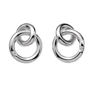 Silver Hot Diamonds Earrings