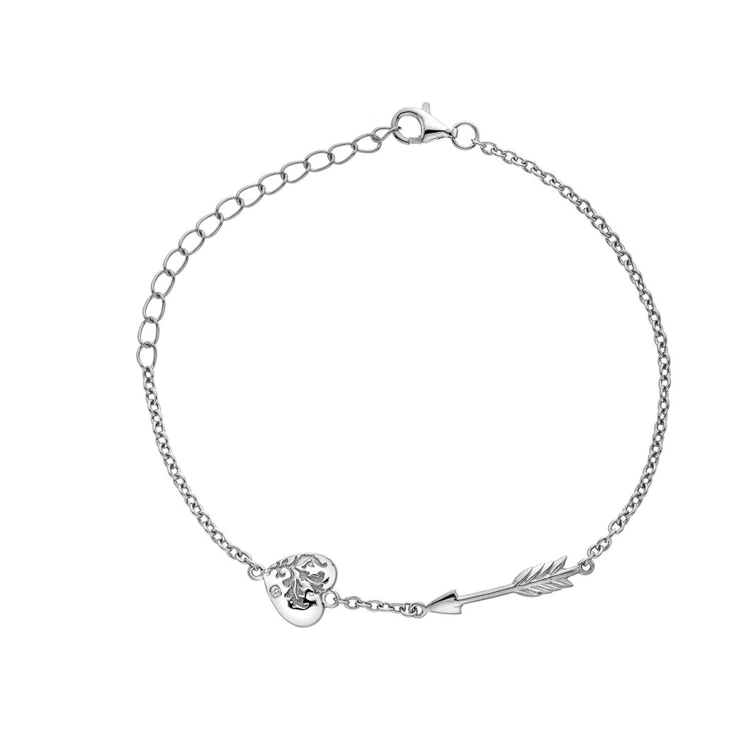 Silver Hot Diamonds Cupid Bracelet