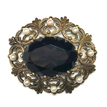 Load image into Gallery viewer, Citrine and Culture Pearl Brooch