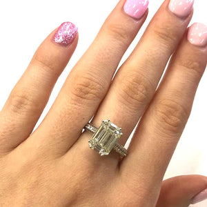 18 Carat White Gold Baguette Diamond Cluster Ring