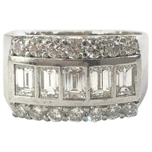Load image into Gallery viewer, 14 Carat White Gold Diamond Unisex Chunky Ring
