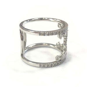 18 Carat White Gold Handmade Diamond Scatter Band Ring