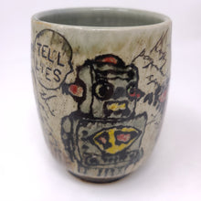 Load image into Gallery viewer, Cup, Yunomi Style #38 -Robot (753)