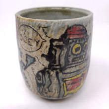 Load image into Gallery viewer, Cup, Yunomi Style #40 -Robot (538)
