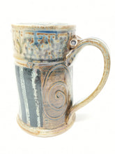 Load image into Gallery viewer, Beer Stein #13 Orange Circle w/ Green and Navy Stripe 24 ounces