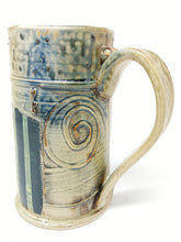 Load image into Gallery viewer, Beer Stein #14 Orange Circle w/ Green and Navy Stripe 24 ounces