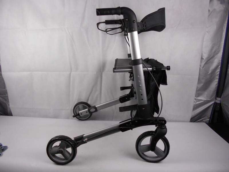 Days Rollator Days Deluxe Lightweight Rollator, Height Adjustable Rollator that Folds for Easy Storage and Transportation, Limited Mobility Aid, Seat Height 550 mm,