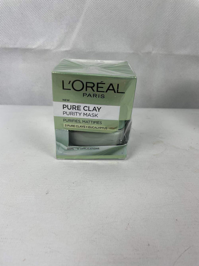 L'Oreal Paris Clay Face Mask L'Oreal Paris Pamper Party Kit Pure Clay Face Mask Spa Gift Set For Her