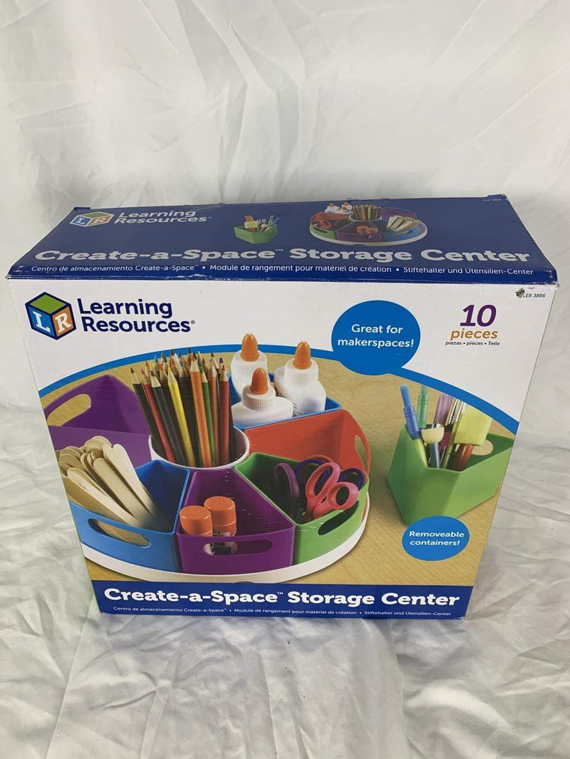 Learning Resources Storage Learning Resources LER3806 Create-A-Space Storage Center, Multicoloured (Damaged)
