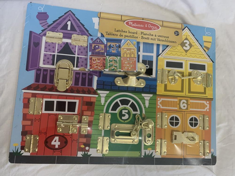 Melissa & Doug Educational Toys Melissa & Doug Latches Board 3+