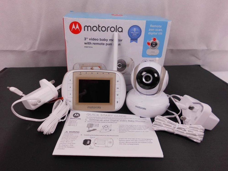 "Motorola Video Baby Monitor Motorola MBP30A Video Baby Monitor with 3"" Handheld Parent Unit"