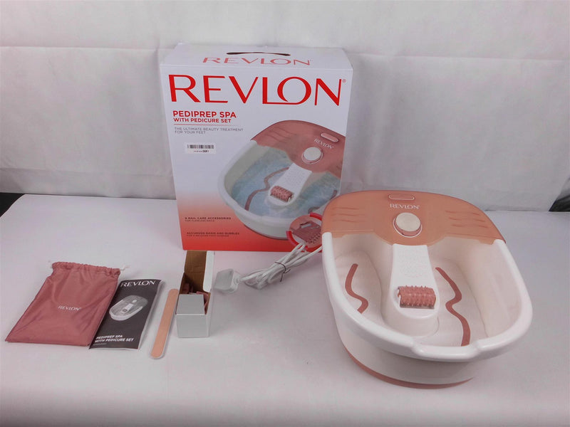REVLON Foot Spa REVLON Pediprep Foot Spa and Pedicure Set with Nine Accessories