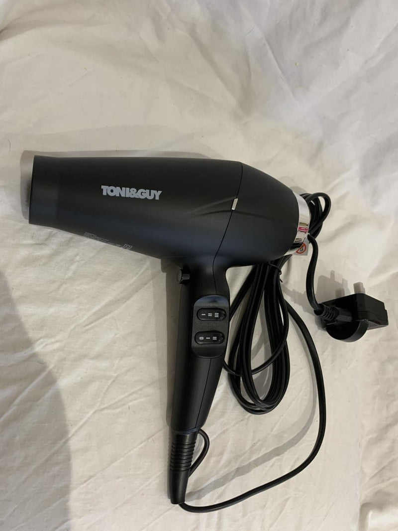 Toni & Guy Hair Dryer Toni & Guy Salon Professional Compact AC Power 2100 W Hair Dryer - Black
