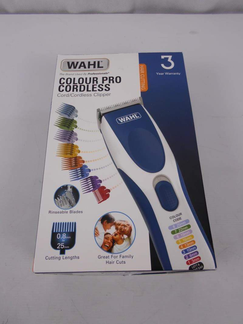 Wahl Hair Clippers Wahl Hair Clippers for Men, Colour Pro Cordless Head Shaver Men's Hair Clippers
