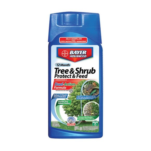 BAYER ADVANCED TREE & SHRUB PROTECT & FEED CONCENTRATE 1 QT