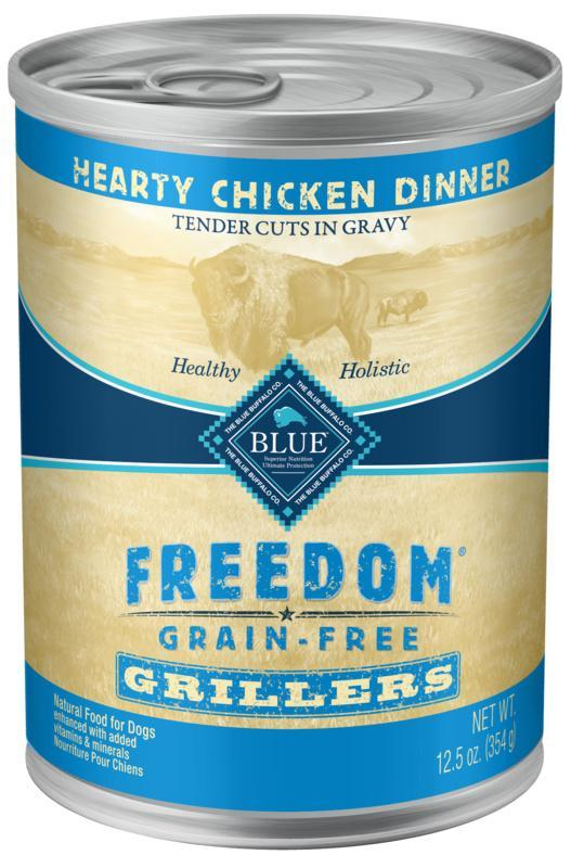 Blue Buffalo Freedom Grain Free Grillers Hearty Chicken Dinner Canned Dog Food