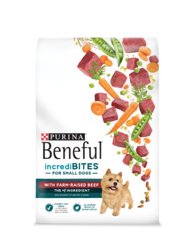 Beneful IncrediBites Small Dog Dry Food with Farm-Raised Beef