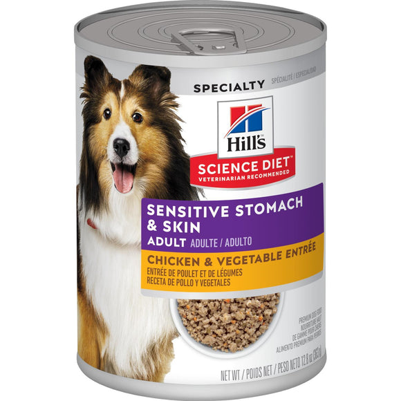 Hill's® Science Diet® Adult Sensitive Stomach & Skin Chicken & Vegetable Entrée dog food