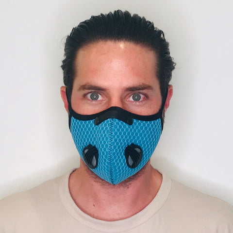 Blue Sporty Mash Face Mask