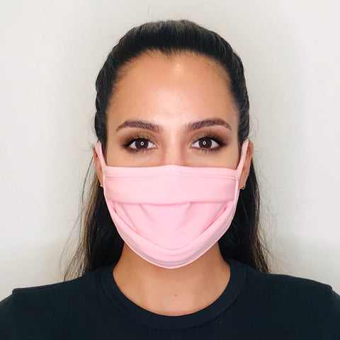 Light Pink Folds Face Mask