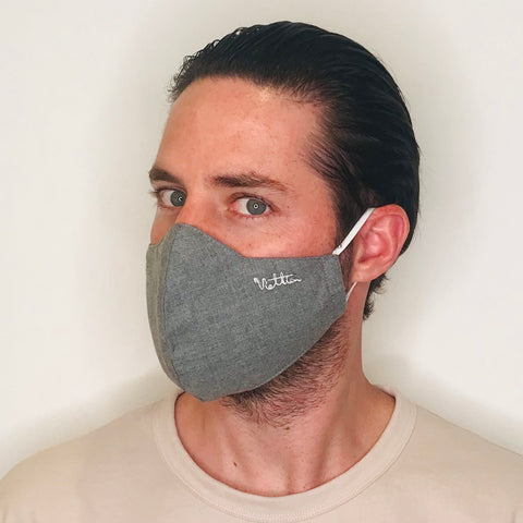 Grey Classic Cotton Mask