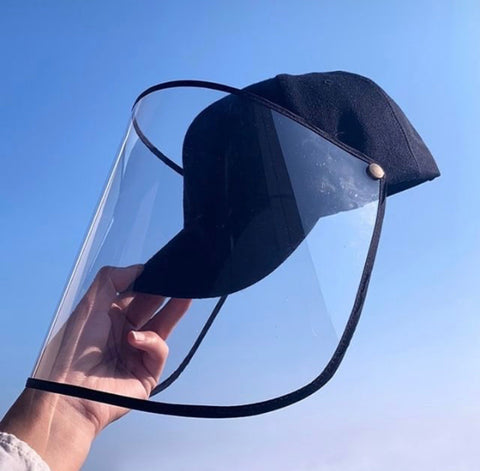 Face shield with hat