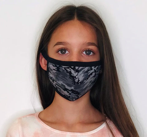 Grey Camouflage Face Mask