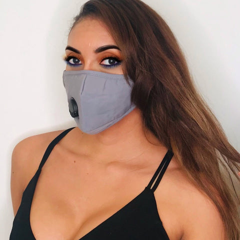 Grey Carbon Filter Face Mask