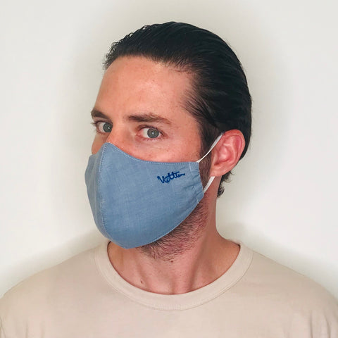 Light Denim Classic Cotton Mask