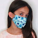 Teal Birds Kids Face Mask