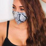 Grey Snake Silky Face Mask