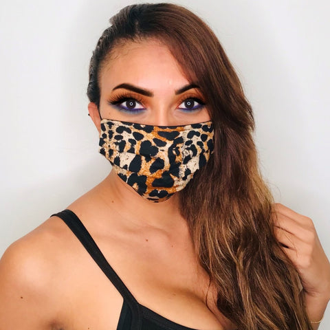 Leopard Folds Face Mask