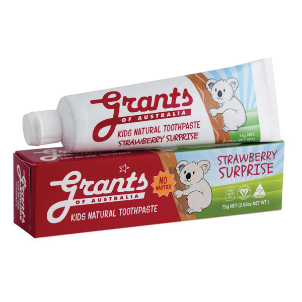 Grants Kids Natural Toothpaste Strawberry 75g