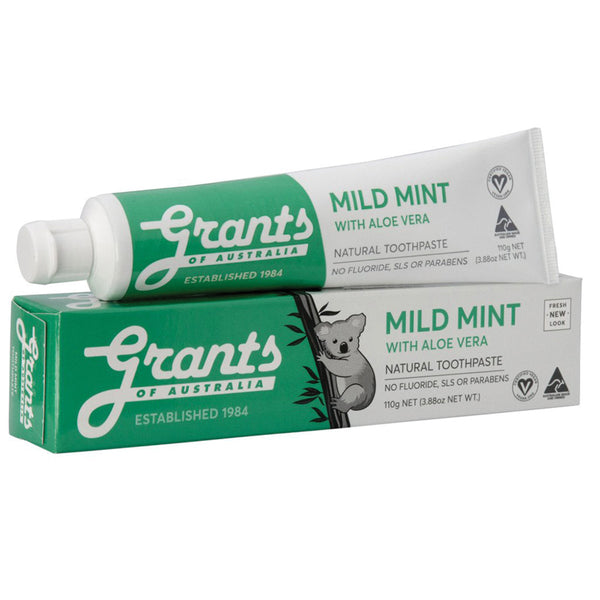 Grants Natural Toothpaste Mild Mint 110g