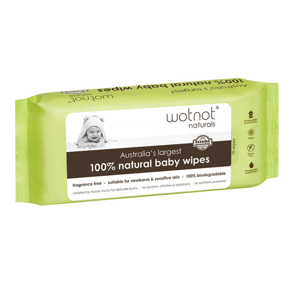 Wotnot 100% Natural Baby Wipes 70s