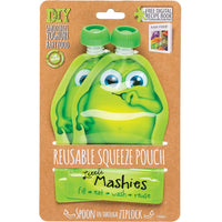 Little Mashies Reusable Pouches Green 2pk