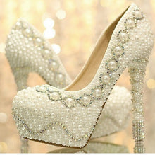 Load image into Gallery viewer, Hot new fashion 12CM Heels Women's Fashion Pearl Bridal Shoes Wedding Shoes Stiletto Heel Heels Pumps
