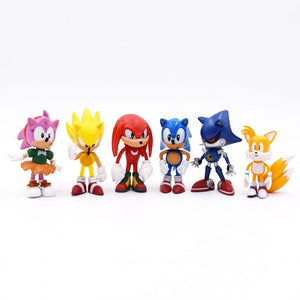 6PCS/SET Sonic Anime Doll Action Figure Toys Box-Packed  2st Generation Boom Rare PVC Model Toy For Children Characters Gift